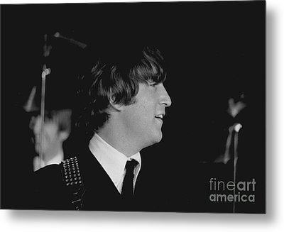 John Lennon, Beatles Concert, 1964 Metal Print by Larry Mulvehill