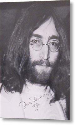 John Lennon Metal Print by Donna Wilson