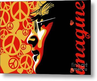 John Lennon Imagine Metal Print by Sassan Filsoof