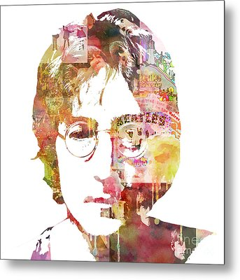 John Lennon Metal Print by Mike Maher