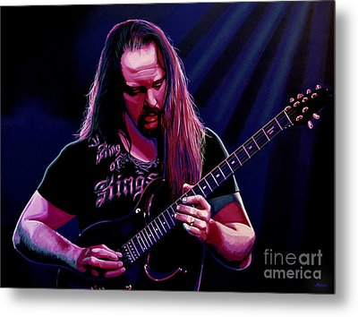 John Petrucci Painting Metal Print by Paul Meijering