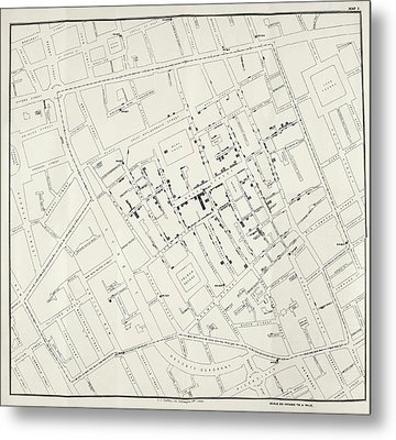 John Snow's Cholera Map Metal Print by British Library