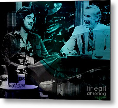 Johnny Carson And Freddie Prince Jr Metal Print by Marvin Blaine