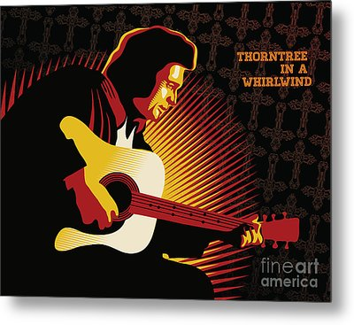 Johnny Cash Thorntree In A Whirlwind Metal Print by Sassan Filsoof