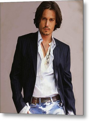 Johnny Depp Metal Print by Dominique Amendola