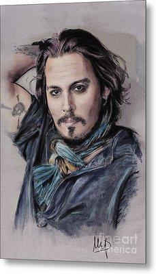 Johnny Depp Metal Print by Melanie D