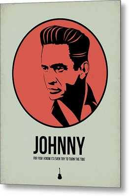 Johnny Poster 2 Metal Print by Naxart Studio