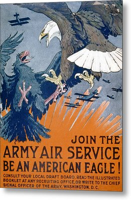 Join The Army Air Service, Be An Metal Print by Charles Livingston Bull