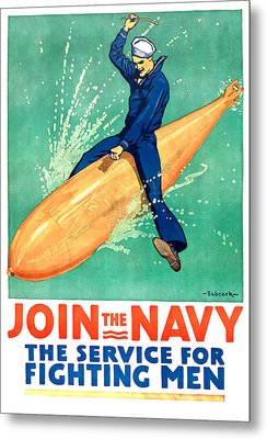 Join The Navy Metal Print by Gary Bodnar