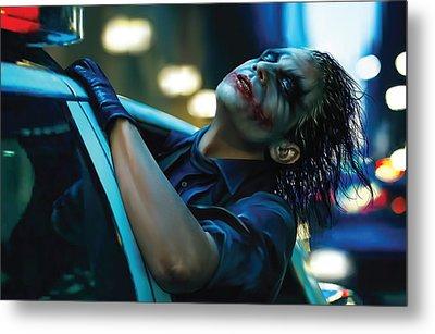 Joker Metal Print by Veronika Limonov