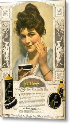 Jonteel 1900s Usa Face Cream Metal Print by The Advertising Archives