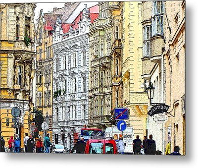 Journey To Prague Metal Print by Ira Shander