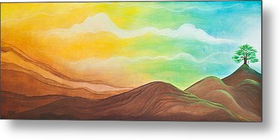 Joy Comes In The Morning Metal Print by Margarita Puckett