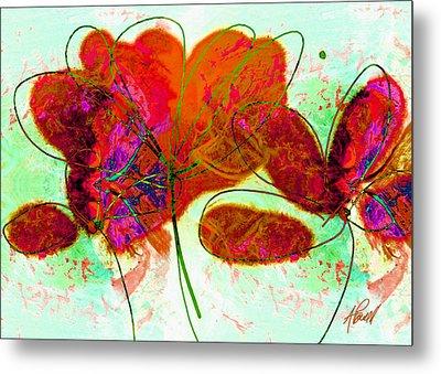 Joy Flower Abstract Metal Print by Ann Powell