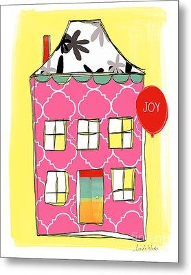 Joy House Card Metal Print by Linda Woods