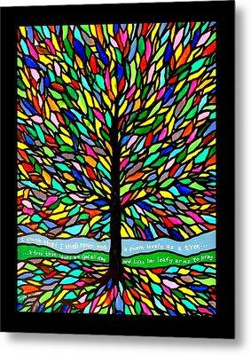 Joyce Kilmer's Tree Metal Print by Jim Harris