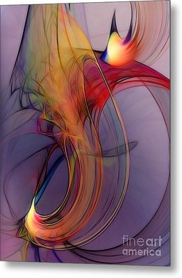 Joyful Leap-abstract Art Metal Print by Karin Kuhlmann