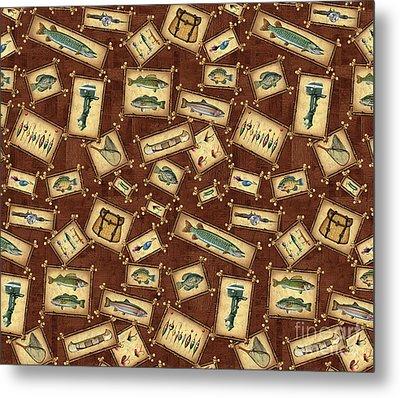 Jq Lake Lodge Bedding Pillow Metal Print by Jon Q Wright