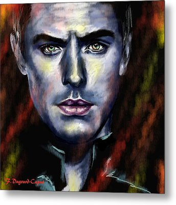 Jude Law Metal Print by Francoise Dugourd-Caput