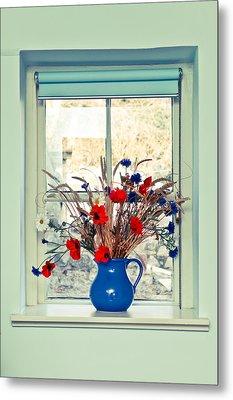 Jug Of Flowers Metal Print by Tom Gowanlock