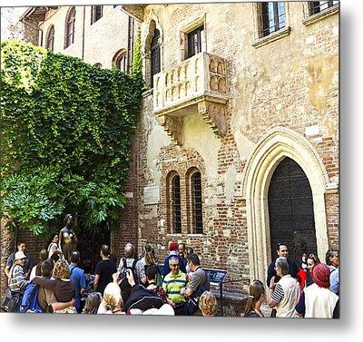 Juliet's Balconey - Verona Italy Metal Print by Jon Berghoff