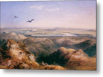 Junction Of The Yellowstone And The Issouri Metal Print by Karl Bodmer