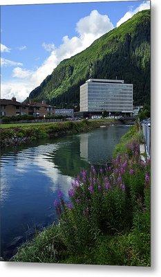 Juneau Federal Building Metal Print by Cathy Mahnke