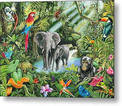Jungle Metal Print by Mark Gregory
