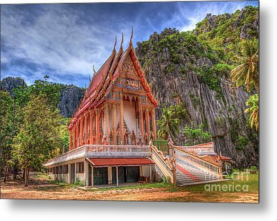 Jungle Temple V2 Metal Print by Adrian Evans