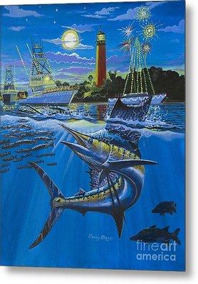 Jupiter Boat Parade Metal Print by Carey Chen