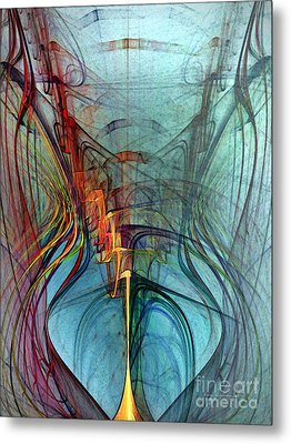 Just A Melody-abstract Art Metal Print by Karin Kuhlmann
