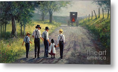 Just Around The Bend Metal Print by Laurie Hein