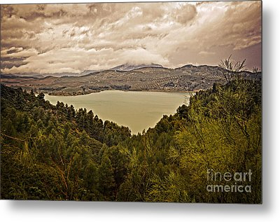 Just Before The Storm - Ardales Metal Print by Mary Machare