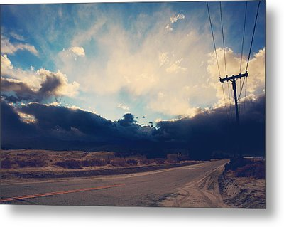 Just Down The Road Metal Print by Laurie Search