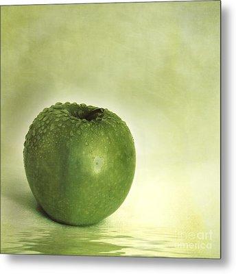Just Green Metal Print by Priska Wettstein