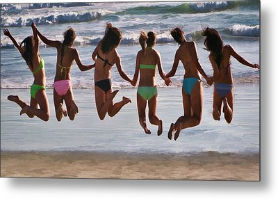 Just Jump Metal Print by Tammy Espino