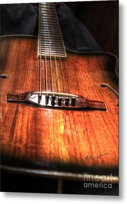 Just Music Digital Guitar Art By Steven Langston Metal Print by Steven Lebron Langston