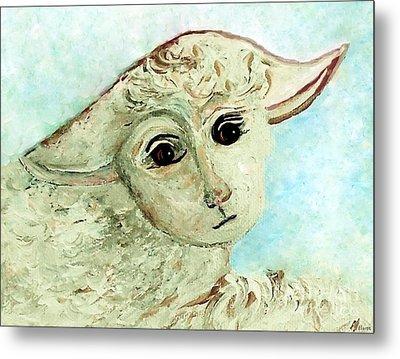 Just One Little Lamb Metal Print by Eloise  Schneider