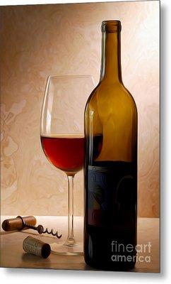 Justin Wine Painting Metal Print by Jon Neidert