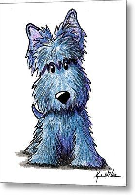 K9 Keanu Scottie Terrier Metal Print by Kim Niles
