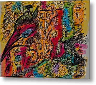 Kakadu  Dream And Desire.  Money Money Money Money??  Nonconformist Art . The Young Rebels Metal Print by  Andrzej Goszcz