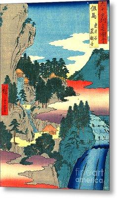 Kannon Temple Tajima Province 1854 Metal Print by Padre Art