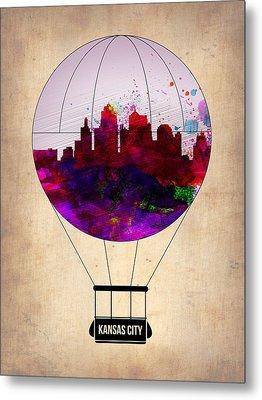 Kansas City Air Balloon Metal Print by Naxart Studio