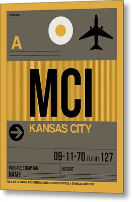 Kansas City Airport Poster 1 Metal Print by Naxart Studio
