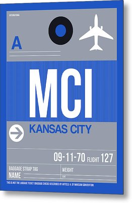 Kansas City Airport Poster 2 Metal Print by Naxart Studio