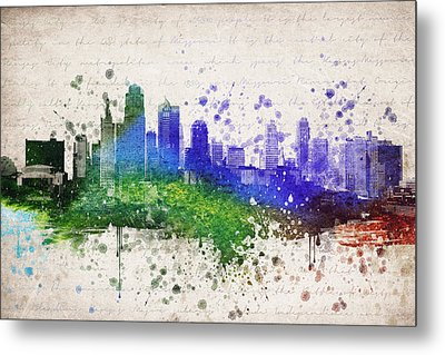 Kansas City In Color Metal Print by Aged Pixel
