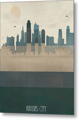 Kansas City Missouri Skyline Metal Print by Bri B