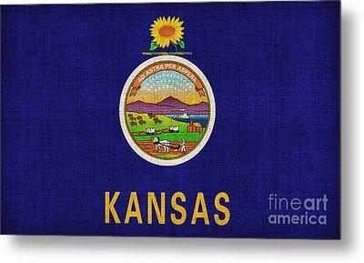 Kansas State Flag Metal Print by Pixel Chimp