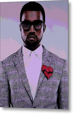 Kanye West Poster Metal Print by Dan Sproul