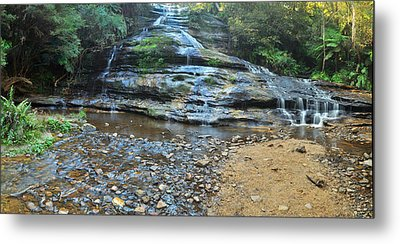 Katoomba Cascades Panorama Metal Print by Terry Everson
